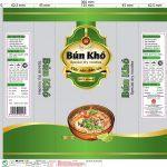 In Bao bì thực phẩm Bún khô